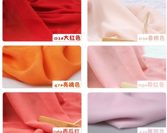 100D knot Chiffon Fabric by the Yard, Chiffon Fabric, Wedding Chiffon, Light weight Chiffon Fabric,pink chiffon