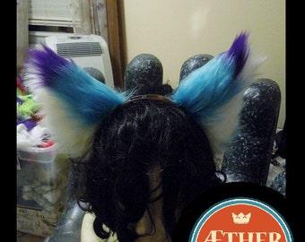 Purple and Teal Ears