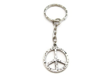 Peace Sign Keychain Peace Keychain Peace Gift Gifts Under 10
