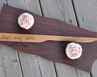 Wedding knife wedding cake knife cake serving set cake server set wedding cake knife cake server cake cutting set wood