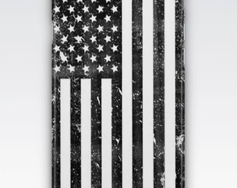Case for iPhone 8, iPhone 6s,  iPhone 6 Plus,  iPhone 5s,  iPhone SE,  iPhone 5c,  iPhone 7,   Vintage Black & White Stars and Stripes