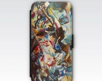 Wallet Case for iPhone 8 Plus, iPhone 8, iPhone 7 Plus, iPhone 7, iPhone 6, iPhone 6s, iPhone 5/5s -  Composition VI by Wassily Kandinsky