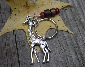 Giraffe key ring, Giraffe key chain, Safari