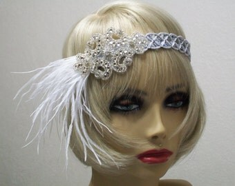 1920s headpiece, Great Gatsby headpiece, 1920s headband, Flapper headband, Roaring 20s, 1920s hair accessory, Vintage inspired