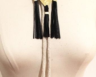 Diamond and Fringe Bolo Tie