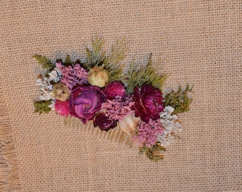 Wedding Hair Accessory, Wedding Hair Comb, Hair Comb. Dried Flower Hair Comb - Can Be Custom Made to Order
