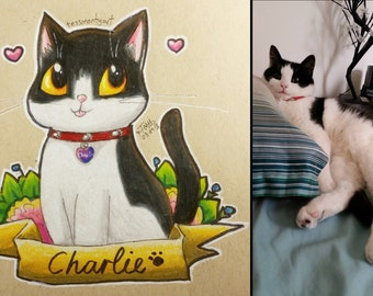 A5 Commissions - Prismacolor Pet Portraits - Great gift idea!