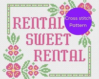 Rental Sweet Rental Cross Stitch Pattern