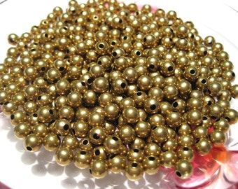 100pcs Brass Spacer beads Ball Round Beads 5mm