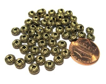 50pcs Antique Bronze Spacer Metal beads 6x3mm