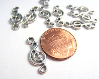 Antique Silver Music Note Charms Pendants Metal Charms Pendant