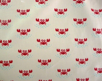 SALE - Fabric - Robert Kaufman - crab cotton print.
