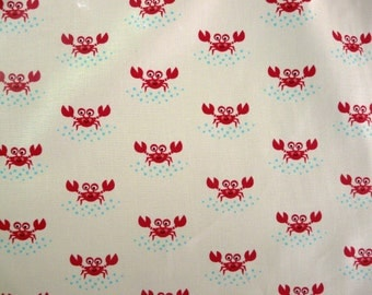 Fabric - Robert Kaufman - crab cotton print.