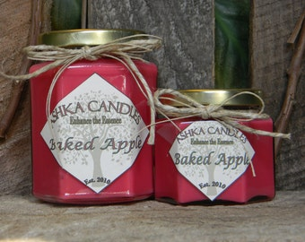 Small BAKED APPLE Soy Candles! 4oz candle Strong Cinnamon Baked Apple candle! Fall candle, Cinnamon Candle, Primitive Candle, Holiday Candle
