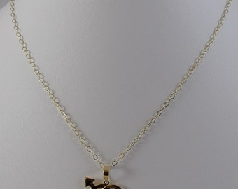 New delicate high quality 14K yellow gold filled chain &18k pendant necklace!