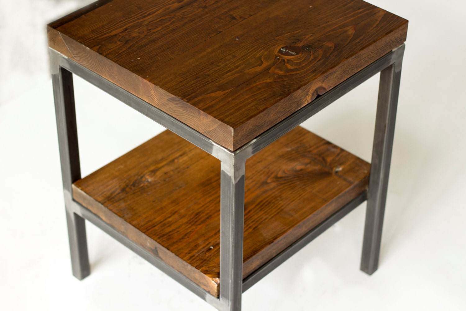Reclaimed wood side table end table bare design for Reclaimed wood end table