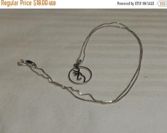 Big Sale Sterling Zodiac necklace, vintage sterling necklace, gift under 20, Secret Santa, Gift Gingerslittlegems
