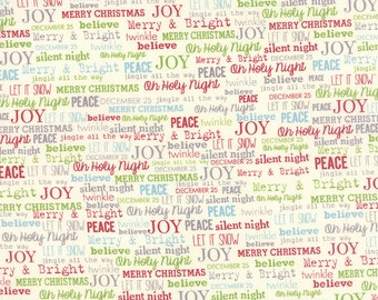 The Cookie Exchange - 5624-11 - Sweetwater Fabrics - Text Print - Moda - Christmas Fabric - Holiday - Christmas in July - IN STOCK