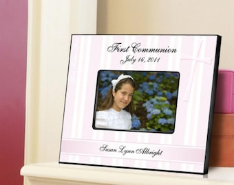 Personalized picture frames first communion frame god bless the children monogrammed engraved custom photo pictures RR10601