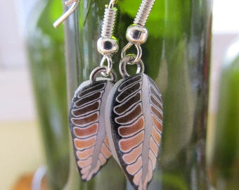 Handmade Polymer Clay Feather earrings