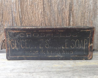Antique Crosfield Glycerin Saddle Soap Bar made in England (actual bar)