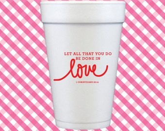 Love Foam Cups (Qty 12)