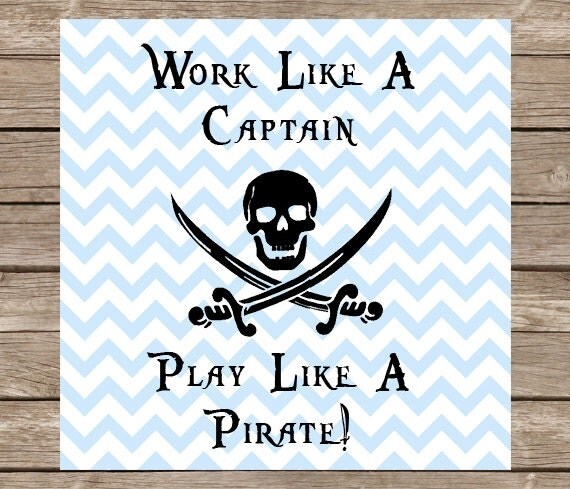 work like a captain play like a pirate svg captain svg