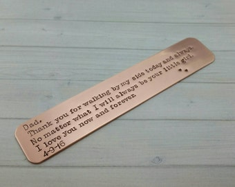 Copper bookmark, hand stamped bookmark, custom bookmark, gift for readers