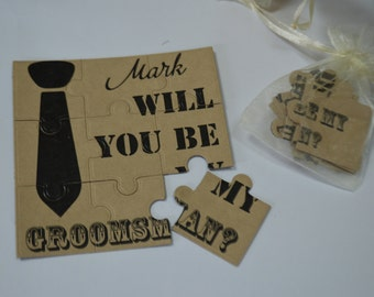 Will You Be my Groomsman, Puzzle ,
