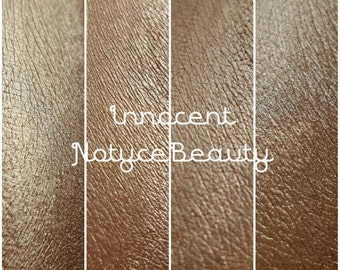 NEW Natural Bronze Cream Gold Copper Duochrome with sparks: INNOCENT shimmer satin eyeshadow