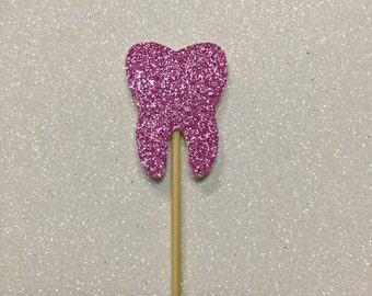 Mini tooth cake topper