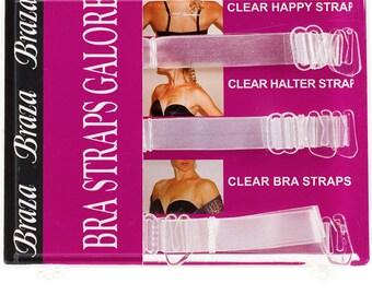 Wide Clear Bra Straps Galore 50061