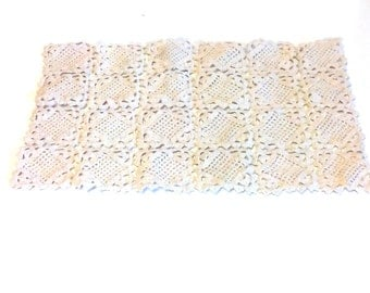 Rectangle unbleached cotton doily