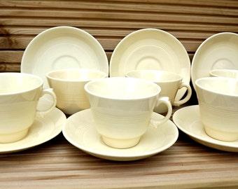 Vintage/Retro 1950's Johnson Bros - Jasmin  x 6 cups and saucers