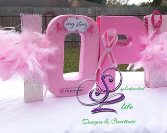 Breast Cancer letters by Sophisticated Life Designs