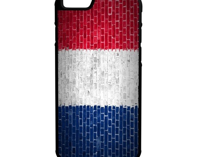 France Flag on Brick Wall iPhone Galaxy Note LG HTC Hybrid Rubber Protective Case