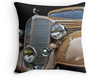 Car Pillow, Car Decor, Car Gifts, Old Cars, Hood Ornaments, Old Car Decor, Car Cushion, Antique Cars, Vintage Cars, Buick Victoria, 1930s