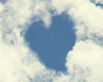 Heart Art, Cloud Print, Gift for Her, Love Print, Cloud Wall Art, Wedding Gifts, Romantic Art, Romantic Gifts, Gift for Wife, Nature Prints