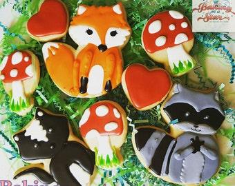18 woodland animals gourmet sugar cookies