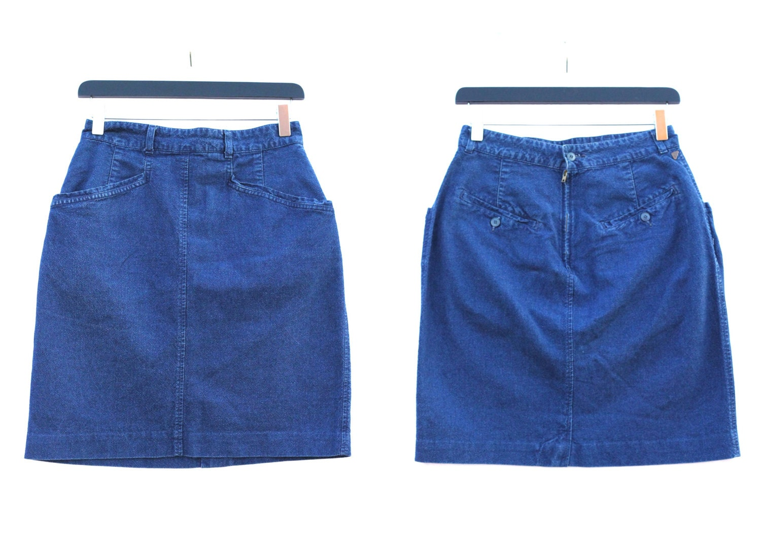 80s high waisted denim pencil skirt s clothing