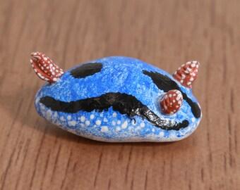 Sea bunny animal totem - Polymer clay animal OOAK figurine, talisman