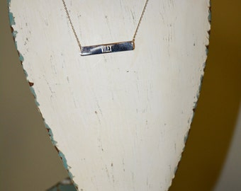 Monogrammed Sterling Silver Bar Necklace