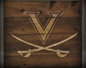 University of Virginia UVA Cavaliers Pallet Wood Art Reclaimed Wood Sign Pallet Decor