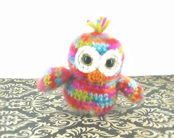 Owl/Baby Owl/Crochet Owl/Ready to Ship/Stuffed Owl/Plush Toy/Amigurumi/Soft Toy/Barn Animal/Barn Nursery Decor/Handmade Toy