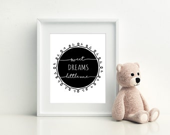 Sweet Dreams print for Baby - 8x10