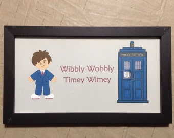 Doctor Who inspired wall art