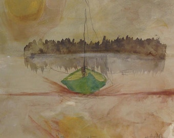 Moonlit boat