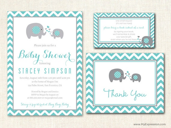 Baby Boy Elephant Invitations as perfect invitation design