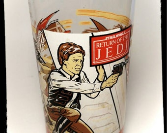 Vintage Coca Cola Burger King Star Wars Return of the Jedi Glass / Collectible Star Wars / Best Gift Idea F1488