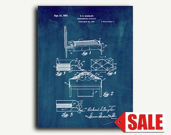 Patent Print - Refrigerating Apparatus Patent Wall Art Poster